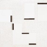莊普,世界朝自身敞開,2016,紙、壓克力顏料、畫布、鋁製品,60.5 x 72.5 cm