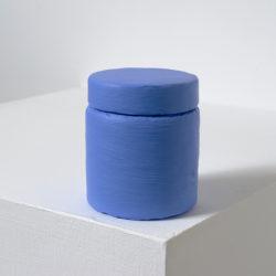 賴志盛,顏料罐_淡群青,2014,壓克力顏料 / 紙 / 塑膠,7 x 6 x 6 cm
