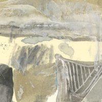 鄭帛囪,無題,2015-2016,水彩、油漆筆、立可白/便條紙,7.6 x 10 cm