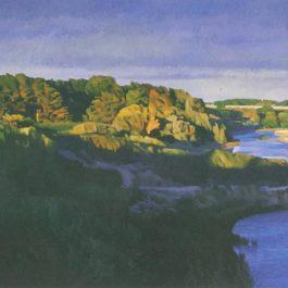 陳建中,海邊(布列塔尼風景),1990,油彩 /畫布,89 x 130 cm