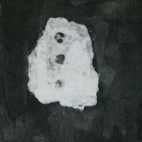 林延,布魯克林的音符1,2006,墨/樹脂/宣紙,30.5 x 30.5 cm
