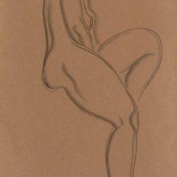 常玉,裸女II,未紀年,素描/紙,45 x 29 cm