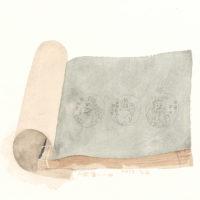 王玉平,《水滸傳-4》,2015,水彩/紙,31 x 41 cm