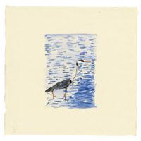 劉小東,向南飛 #07,2014,水彩/宣紙,50 x 50 cm