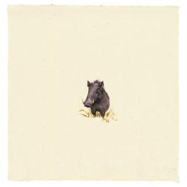 劉小東,向南飛 #09,2014,水彩 / 宣紙,50 × 50 cm