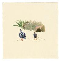 劉小東,向南飛 #21,2014,壓克力顏料 / 宣紙,50 × 50 cm