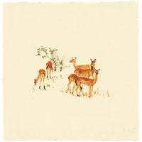 劉小東,向南飛 #25,2015,水彩 / 宣紙,50 × 50 cm