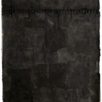 林延,內在的雨 #2,2006,墨、宣紙、樹脂,180 × 168 × 5.5 cm