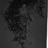 林延,伴侶 #3,2004,色粉筆、鉛筆 / 紙,150 × 100 cm