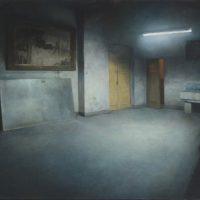 陸亮,南湖電影院,2006,油彩/畫布,55 x 80 cm