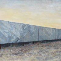 陸亮,黃昏中的廣告牌,2013,油彩/畫布,110 x 170 cm