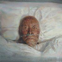 陸亮,浴火的老者,2009-2011,油彩/畫布,60 x 90 cm