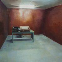 陸亮,地洞 - 機要處,2011-2014,油彩/畫布,180 x 250 cm
