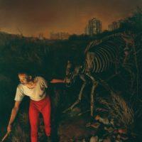 陸亮,夜牧,2006,油彩/畫布,280 x 210 cm