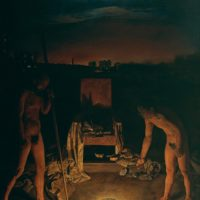 陸亮,莊子寓言.屠龍,2005-2006,油彩/畫布,280 x 210 cm