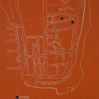 刁德謙,三點一線,2015,壓克力顏料、乙烯 / 畫布,139.5 x 112 cm
