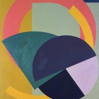 刁德謙,七種可能,1976,壓克力顏料 / 畫布,216 x 168 cm