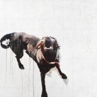 鄭君殿,吠 (D2),2013-2014,油彩/畫布,120 x 132 cm