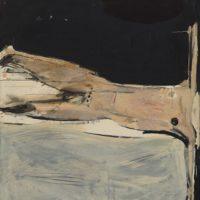 顧福生,墮,1964,油彩 / 畫布,127 x 102 cm