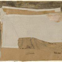 顧福生,棕色的姿態,1962,綜合媒材 / 紙,38 x 56 cm
