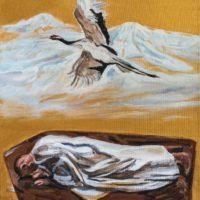 顧福生,歸於塵土,2010,油彩 / 畫布,46 x 36 cm