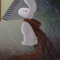 黃本蕊,小紅的誘惑,2014,壓克力顏料/畫布,76 x 61 cm