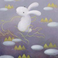 黃本蕊,心悅誠服,2014,壓克力顏料/畫布,61 x 51 cm