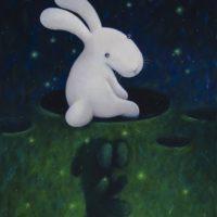 黃本蕊,落,2014,壓克力顏料/畫布,61 x 51 cm