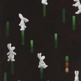 黃本蕊,網際關係,2014,壓克力顏料/畫布,91 x 61 cm