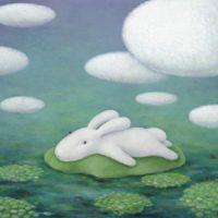 黃本蕊,水,天與我,2015,壓克力顏料/畫布,51 x 61 cm