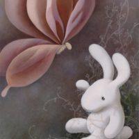 黃本蕊,遺忘,2014,壓克力顏料/畫布,71 x 56 cm
