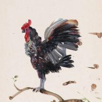 劉小東,記憶樹紙上作品 no. 2,2014,壓克力顏料/紙,27 x 20 cm