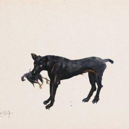 劉小東,記憶樹紙上作品 no. 4,2014,壓克力顏料/紙,27 x 20 cm