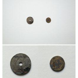 倪有魚,西湖十景-平湖秋月,2013,金屬表面綜合材料繪畫,含框尺寸:23x23cm 單枚硬幣:2-3cm