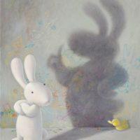 黃本蕊,自作自受,2012,壓克力顏料/畫布,61 x 51 cm