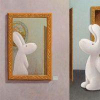 黃本蕊,差之毫釐,2012,壓克力顏料/畫布,61 x 51 cm