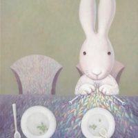 黃本蕊,思念之網,2012,壓克力顏料/畫布,61 x 51 cm