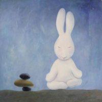 黃本蕊,與智者出禪,2013,壓克力顏料/畫布,61 x 61 cm