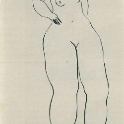 常玉,立姿裸女,1920/30s,水墨/紙本,47 x 29 cm
