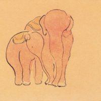常玉,象,1920/30s,水墨、水彩/紙本,21 x 27 cm