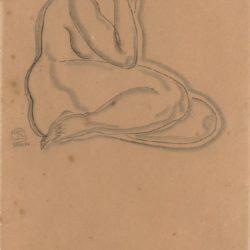 常玉,裸女素描 (7),素描/紙,47 x 30 cm