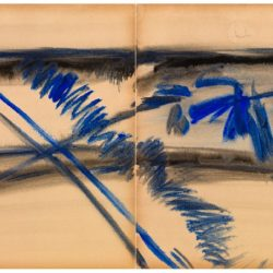曾海文,No. 310,1970-1973,水墨、水彩/ 紙,70 x 50 cm/ each, set of 2