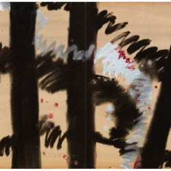 曾海文,No. 350,1970-1973,水墨、水彩/ 紙,70 x 50 cm/ each, set of 2