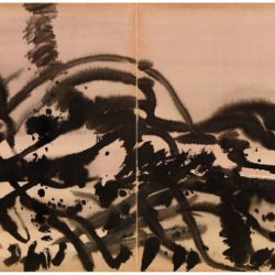 曾海文,No. 251,1970-1975,水墨/ 紙,70 x 50 cm/ each, set of 2