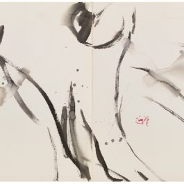 曾海文,No. 190,1980,水墨/紙,70 x 50 cm/ each, set of 2