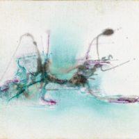 謝景蘭,No. 110,1977,油彩/畫布,24 x 35.5 cm
