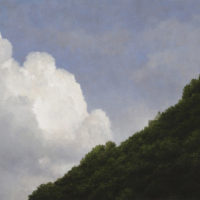 葉子奇,山與雲,2009-2011,卵彩‧油畫/亞麻布,50.8 x 101.6 cm