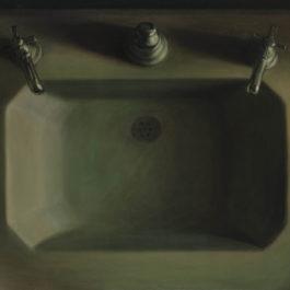 葉子奇,等待,1988,卵彩‧油畫/亞麻布,61 x 91.5 cm