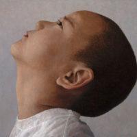 葉子奇,如時3歲2個月又15天,2002-2013,卵彩‧油畫/亞麻布,30.4 x 40.8 cm