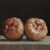 葉子奇,對話蓮霧 II,2003-2013,卵彩‧油畫/亞麻布,38 x 45.7 cm